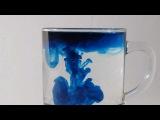 Растворение зелёнки в воде в, видео снятое на  CANON EOS 600d