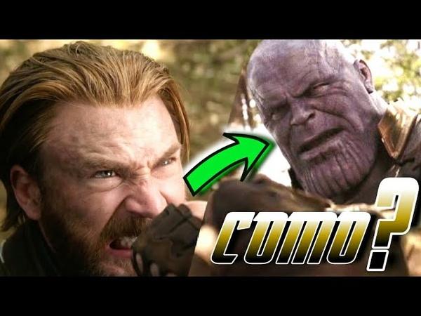 Como o Capitão America foi capaz de segurar a mão do Thanos EXPLICANDO