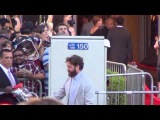 Zach Galifianakis leaves Hangover 3 Premiere in Westwood by climbing into the trunk of his limo