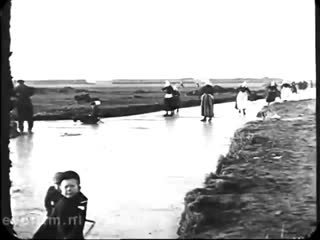 Holland in the winter of 1917. Video restored at the Netherlands film Institute EYE