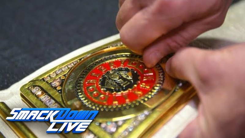 Becky Lynch gets her custom plates added to SmackDown Women's Title Exclusive Sept 18 2018
