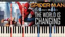 The World is Changing - Spider-Man : Homecoming (Synthesia Piano Tutorial)FREE MUSIC SHEETS MIDI