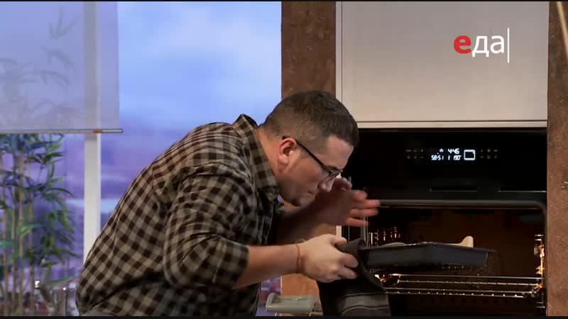 19.Дежурный по кухне. Запечённая треска с лапшой из кабачков и с соусом из авокадо и цитрусовый лимонад