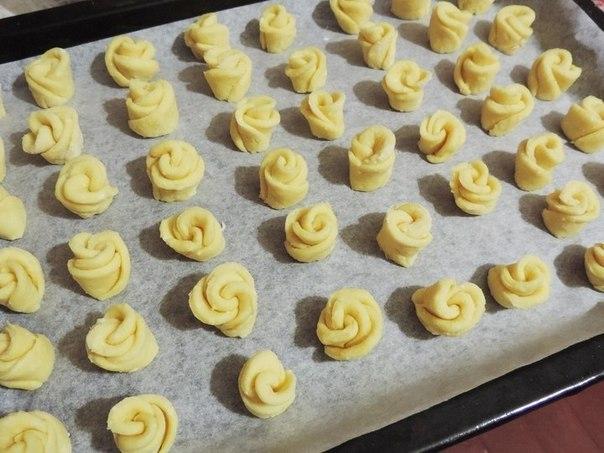 Творожное печенье «Чайная роза». Хочется, чтоб домашнее печенье