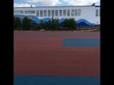 Тартановое покрытие стадиона в Лисаковске