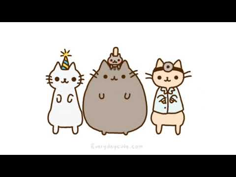 Pusheen the Cat song video Katy Perry Chained to the Rhythm