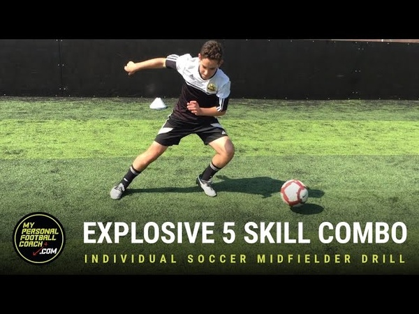 Individual Soccer Midfielder Drill - 5 Skill Agility Explosive Movement Combo