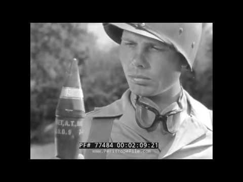 THE ANTI-TANK ROCKET M6 WWII BAZOOKA TRAINING FILM 77484