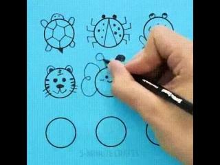 Быстрые простые рисунки на основе круга