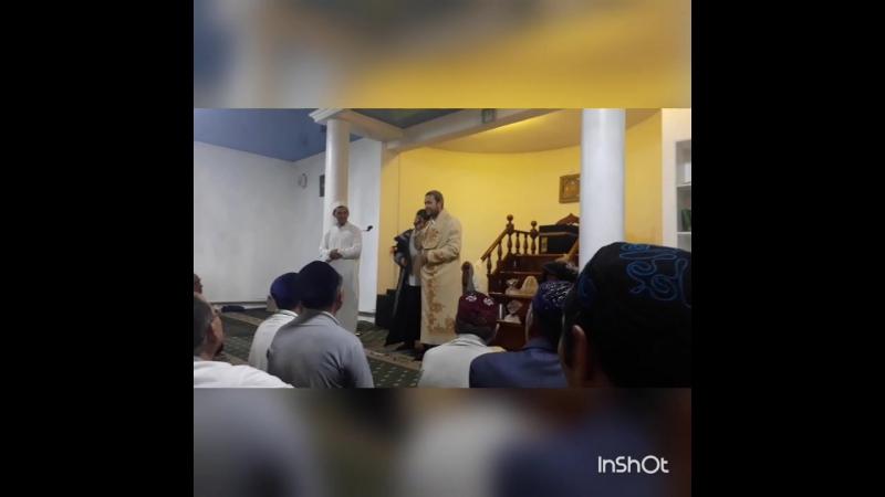 Жаңаарқа ауданының Ғ.Тілеухан мешітіне келген қарилар Убайдулла мен Хамидулла