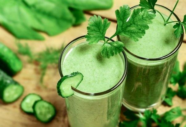 Польза зеленых коктейлей. (1 фото) - картинка