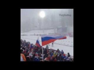 Финиш Фуркад vs Свендсен в масс-старте в СОЧИ 2014