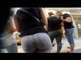 Упругие попы: сексуальная студентка гуляет по магазину, попа в джинсах, эротика, огромный зад