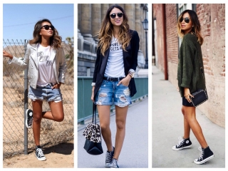 Стильные образы с кроссовками и кедами - модный тренд 2018 💎 С чем носить женские кроссовки