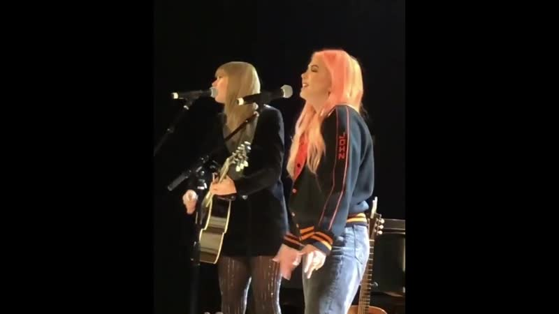 Taylor Swift and Hayley Kiyoko Delicate Acoustic Live at The Ally Coalition Talent Show 2018