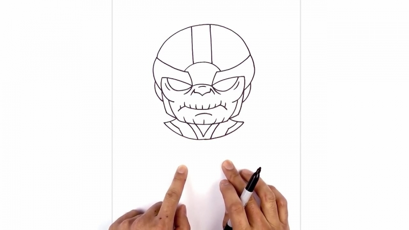 Cartooning 4 Kids How to Draw How to Draw Thanos Step by Step Drawing Tutorial