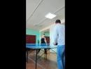 Урок настольного тенниса 😂😂