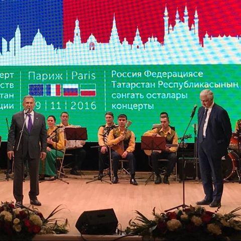 Президент Татарстана улетел вПариж