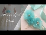 DIY Sash Flower Girl Dress