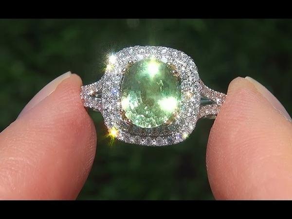 GIA Certified Estate VVS Natural Tsavorite Garnet Diamond 14k Gold Vintage Ring - A141535
