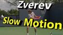 Alexander Zverev Slow Motion Forehand Backhand Slice Backhand Cincinnati 2014