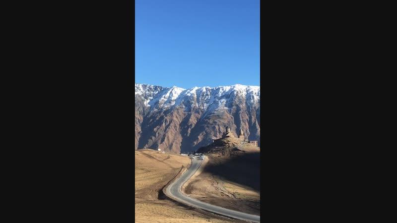 Kazbegi mountain ⛰ Gergeti - Holly Trinity Cathedral