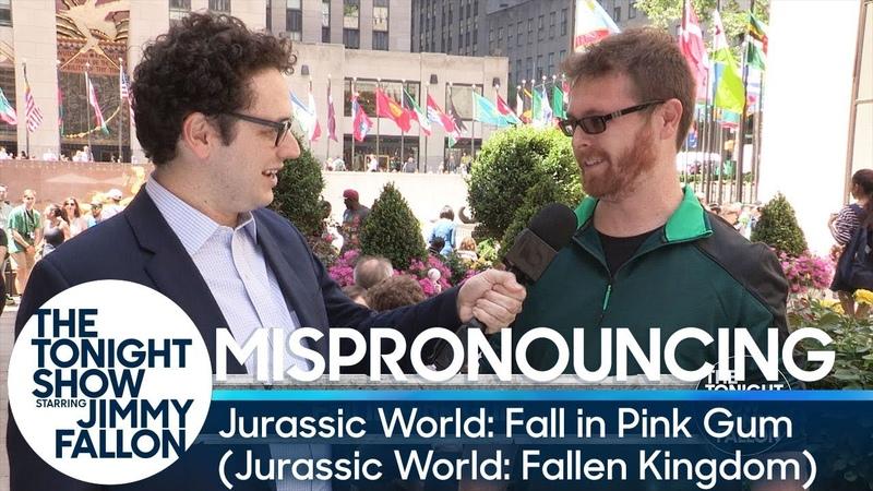 Mispronouncing Jurassic World: Fall in Pink Gum (Jurassic World: Fallen Kingdom)