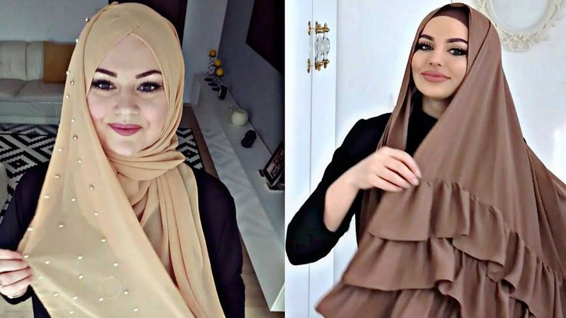7لفات حجاب 2018 سهلة وأنيقة✔️ للمدرسة وجامعة و