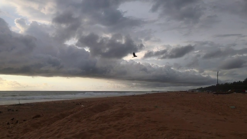 Cyclone Luban One Day Before - Puthukurichy Beach