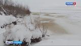 В Плесецком районе сегодня открыли движение по ледовой переправе на маршруте КонёвоНижнее Устье