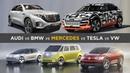 So wollen deutsche Autohersteller Tesla trotzen Audi BMW Daimler VW´s E Auto Offensive