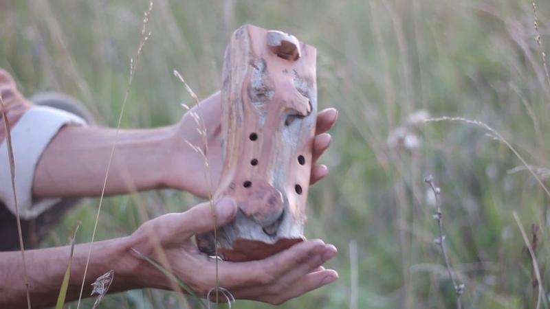 Wooden flute / bass ocarina