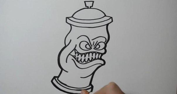 как правильно рисовать граффити карандашом: