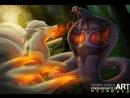 Ninetail VS Arbok - Timelapse Concept Art - [Pokemon Battle Art] 1080 x 1920