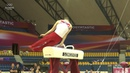 Max Whitlock on pommel horse during training at the 2018 World Gymnastics Championships