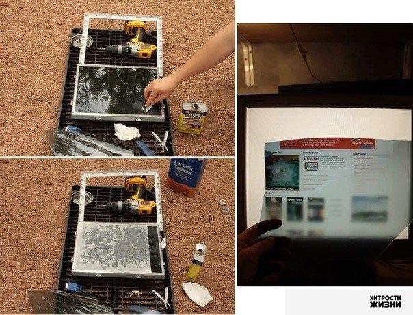 """Гений креатива.   """"Как сделать приватный монитор из старого LCD монитора?"""