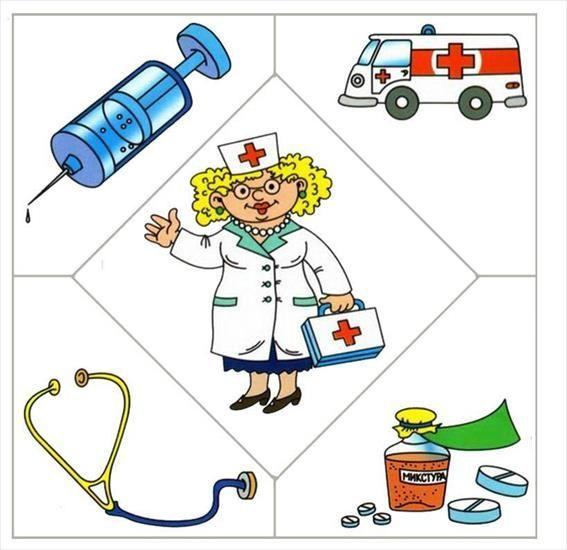 """ИЗУЧАЕМ ПРОФЕССИИ Распечатайте картинки, наклейте на картон, разрежьте по линиям, перемешайте карточки. Предложите ребенку картинку , например, """"Доктор""""и попросите подобрать к ней соответствующие картинки. (Что понадобится Доктору, какие инструменты) Задайте следующие вопросы вашему ребенку: -назови профессию -что делает человек данной профессии -какие инструменты использует человек данной профессии -какую пользу приносит эта профессия -кем ты хочешь стать в будущем и почему Занятие…"""