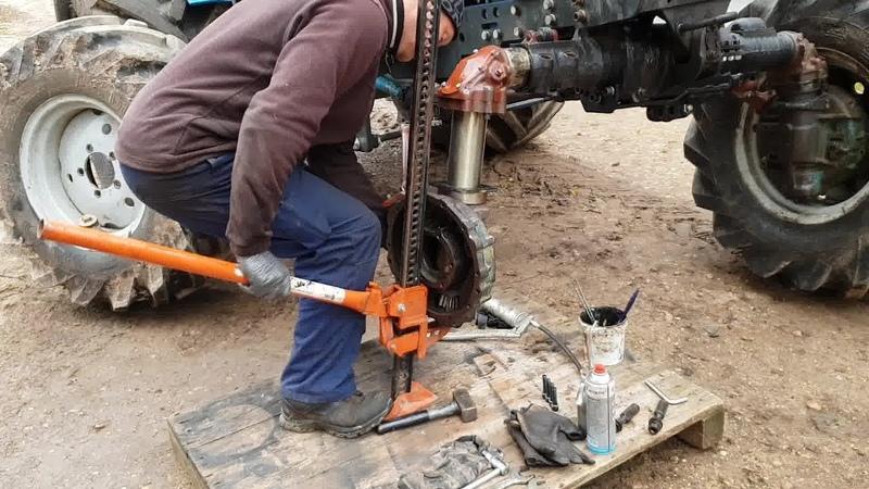 Belarus MTZ 82 restoration project Part 22 Front Axle Repair