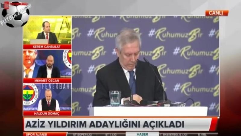 Fenerbahçe Spor Ajansı ⚽ Aziz Yıldırımın Başkanlık Adaylığını Açıklaması 30 Mart 2018