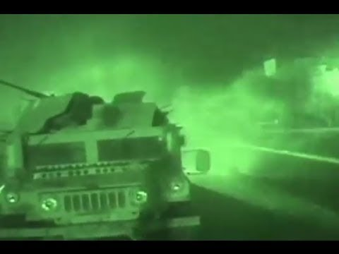 Iraq War - US Special Forces Heavy Urban Combat During Night-Time Special Operations In Iraq