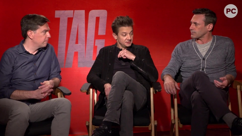 Ed Helms, Jeremy Renner Jon Hamm Talk TAG