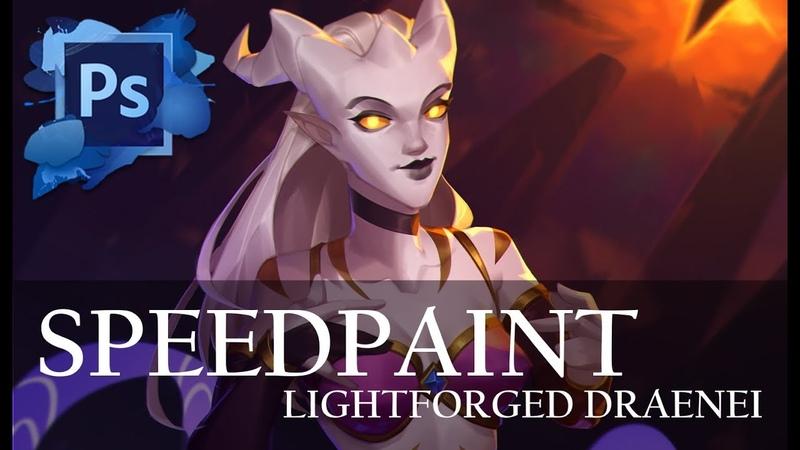 Speedpaint (Photoshop) Lightforged draenei