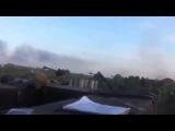 Тяжелая артиллерия лупит русских боевиков,атакующих Донецкий аэропорт 05.10.2014