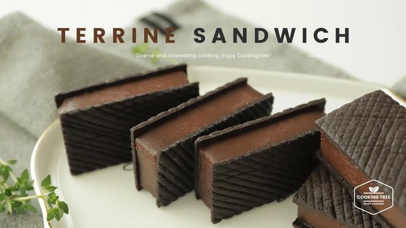 (vk.com/lakomkavk) Chocolate Terrine Sandwich Cookies Recipe - Cooking tree ASMR