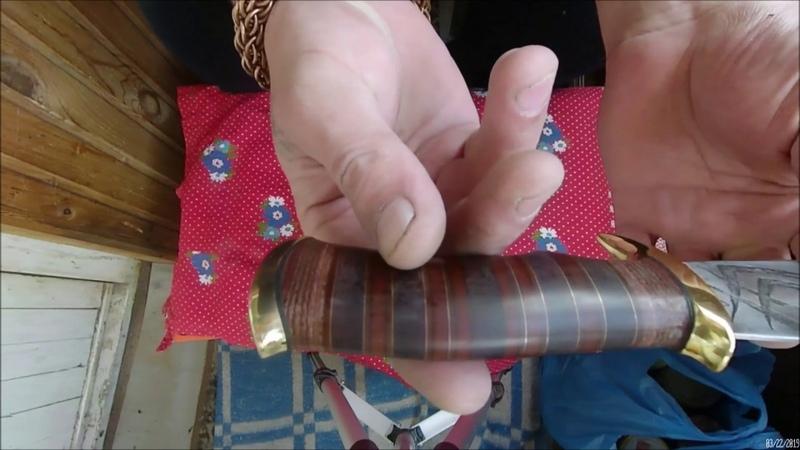 Нож шкуродёр своими руками 90% ножа зделано болгаркой Making