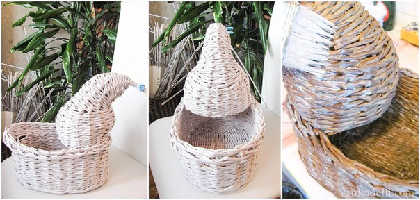 схемы плетение из газет