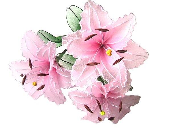 Цветы из капроновой ленты своими руками мастер