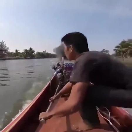 Fast asian boat
