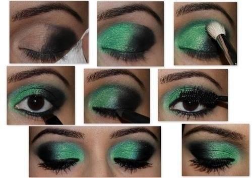 Макияж глаз в зеленых тонах