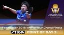 Point of Day 3 by Stiga Jun Mizutani vs Liang Jingkun 2018 ITTF World Tour Grand Finals